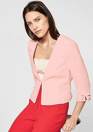 Mooie blazer met strikdetails