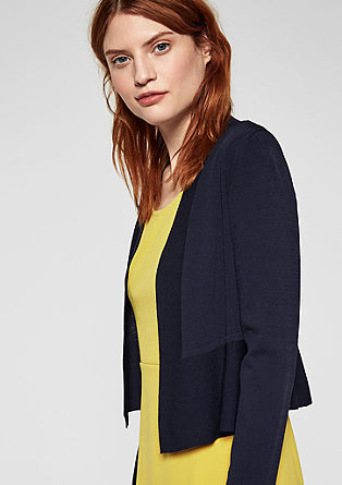 Fitted cardigan with a peplum from s.Oliver