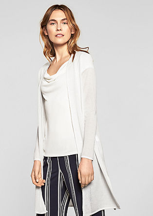 Long, summer knit cardigan from s.Oliver