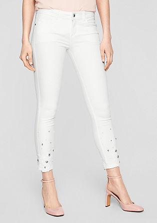 Sienna Slim Low: jean de longueur 7/8 brodé de s.Oliver