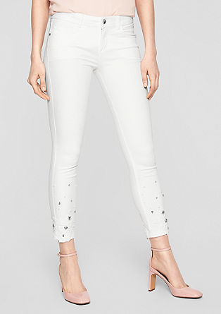 Sienna Slim Low: Bestickte Ankle-Jeans
