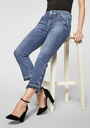 Sienna Slim Low: Kick Flared-Jeans