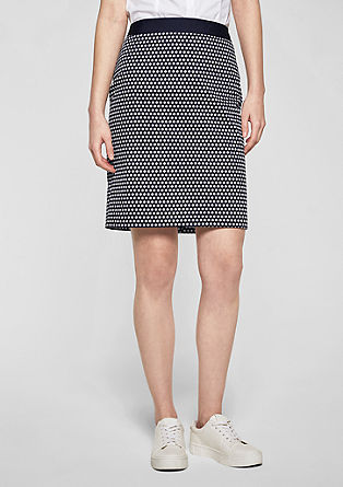 Short skirt with a contrasting waistband from s.Oliver