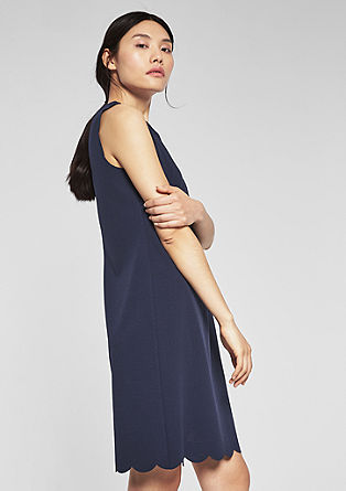 Stretch dress with a scalloped hem from s.Oliver
