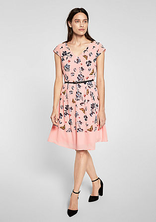 Chiffon dress with a belt from s.Oliver