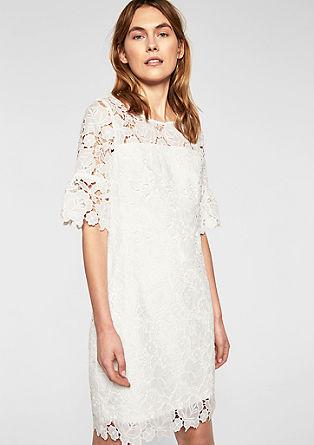Kurzes Kleid aus grober Spitze