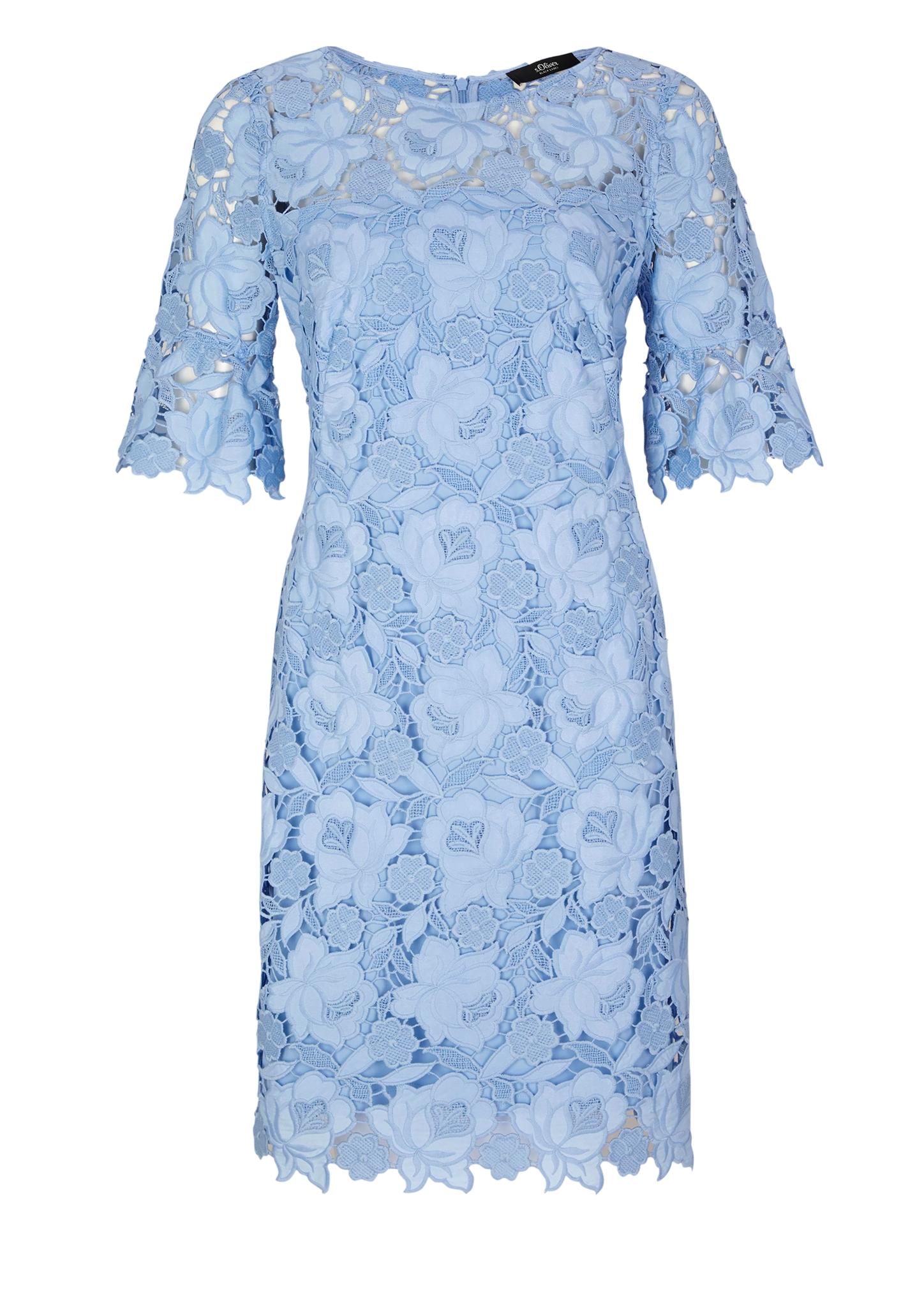 Spitzenkleid   Bekleidung > Kleider > Spitzenkleider   Blau   Obermaterial 100% polyester  futter 100% polyester   s.Oliver BLACK LABEL