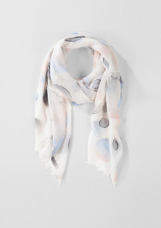 Delicate woven scarf with a jacquard pattern from s.Oliver