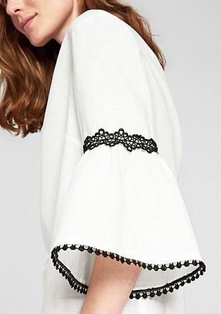 Linen blend blouse in an ethnic style from s.Oliver