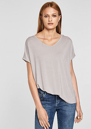Oversized top with a glitter effect from s.Oliver