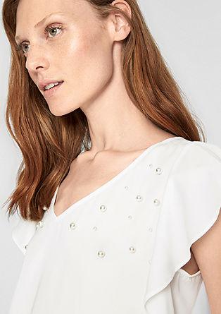 Shirt met sierparels