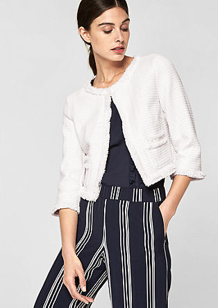 Short bouclé jacket from s.Oliver