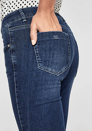 Sienna Slim: washed ankle-length jeans from s.Oliver