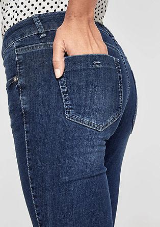 Sienna Slim: Jeans hlače do gležnjev v spranem videzu