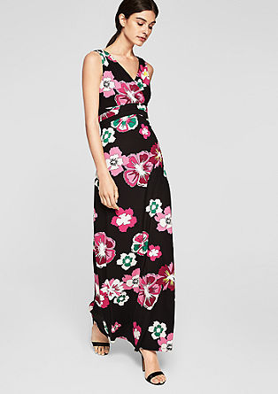 Maxi dress with a floral print from s.Oliver