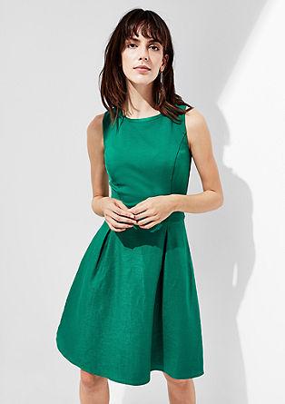 Linnen jurk met tailleriem
