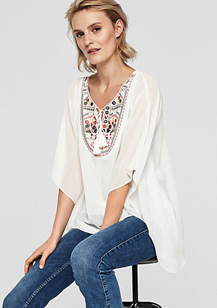Chiffon blouse with embroidery from s.Oliver