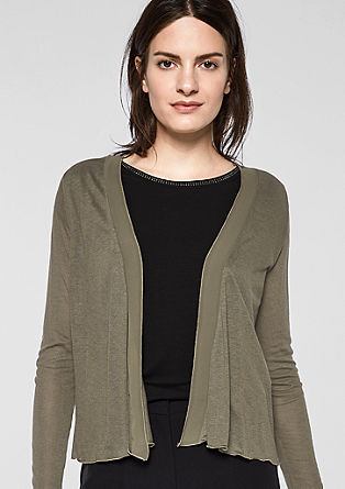 Lightweight shirt jacket with a chiffon detail from s.Oliver
