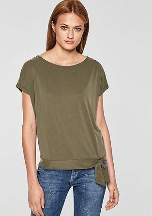 T-shirt oversize orné d'un nœud décoratif de s.Oliver