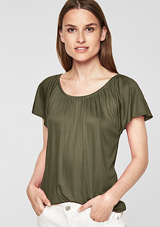 Flowing interlock T-shirt from s.Oliver