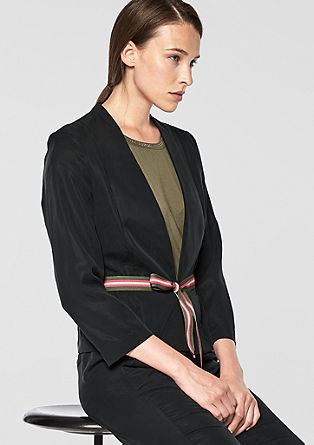 Lyocell blazer jacket with a grosgrain ribbon from s.Oliver