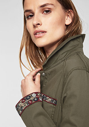 Twill-Jacke mit Embroidery