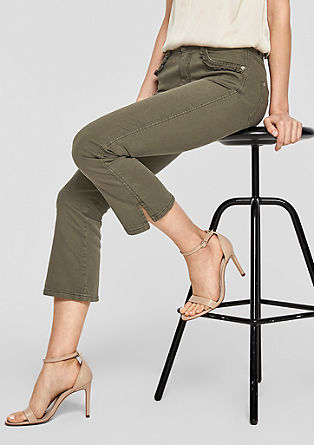 Sienna Slim: Bell bottom 7/8-length jeans from s.Oliver