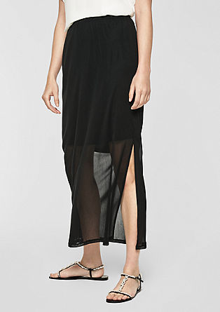 Semi-sheer mesh skirt from s.Oliver