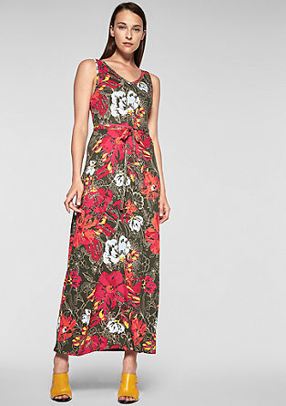 Maxi dress with a summer print from s.Oliver