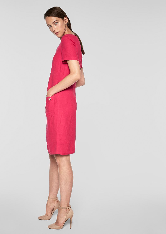 s.Oliver BLACK LABEL Damen Legeres Kleid aus Leinen Neu | eBay