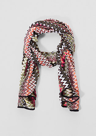 Scarf with a printed pattern from s.Oliver