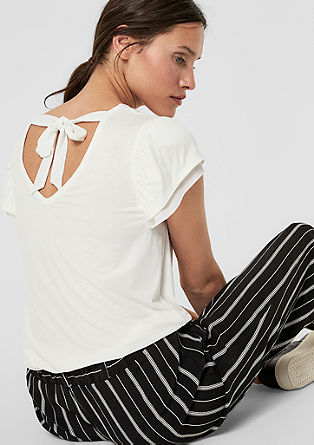 Jersey top with cap sleeves from s.Oliver