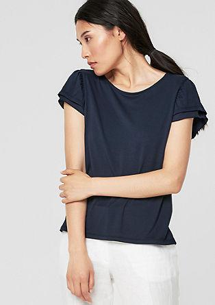 Jersey shirt met vleugelmouwen