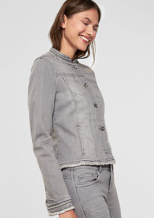 Denim jacket with decorative details from s.Oliver