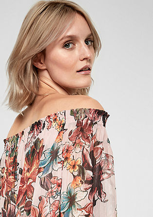 Off Shoulder-Bluse mit Lurex