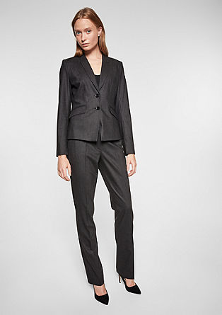 Fitted blazer in blended wool from s.Oliver