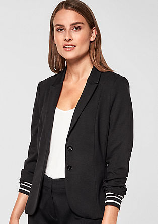 Fitted blazer with striped cuffs from s.Oliver