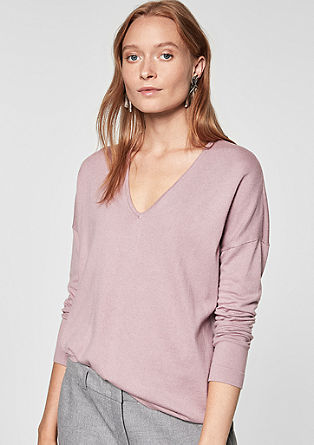 Oversized-Pullover mit Metallic-Garn