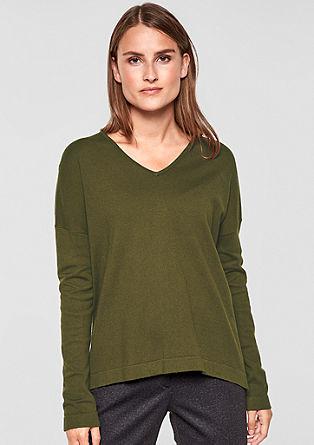 Oversize pulovr s metalickou přízí