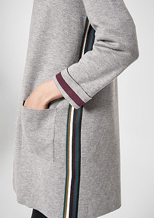Double face knit coat with stripes from s.Oliver