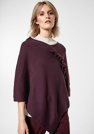 Poncho with a flounce trim from s.Oliver