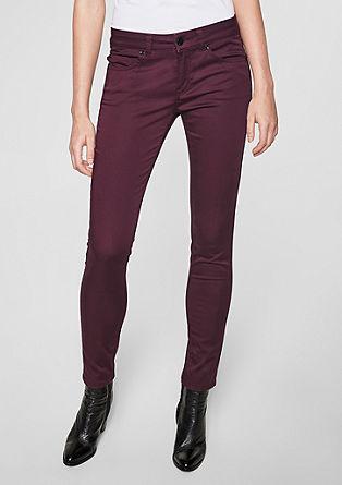 Sienna Slim: pantalon en satin de longueur raccourcie de s.Oliver