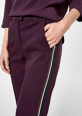 Rachel Slim: kalhoty skontrastními prvky