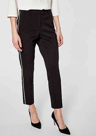 Rachel Slim: trousers with contrast details from s.Oliver