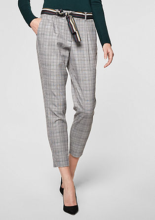 Eve Easy: glencheck trousers from s.Oliver