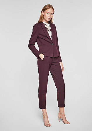 Rita Comfort: waffle piqué trousers from s.Oliver