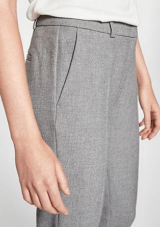 Rita Comfort: pantalon en maille piquée gaufrée de s.Oliver