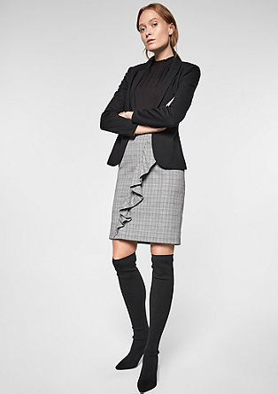 Prince of Wales check skirt with a flounce from s.Oliver