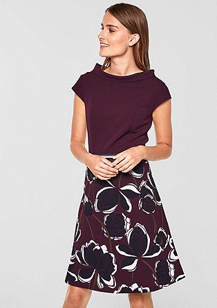 Kleid aus mattem Strukturjersey