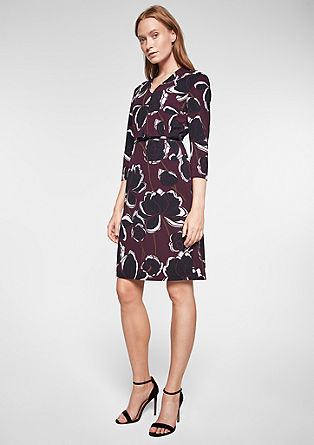 Elegante jurk met print all-over
